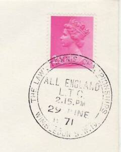 GB Stamps Souvenir Postmark Wimbledon Lawn Tennis Championships, sport 1971