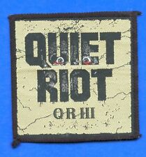 Quiet Riot III vintage 1980s SEW-ON PATCH