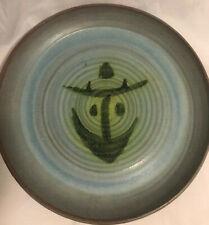 Vintage handthrown platter, Jamaica, 2 Todds, Maribel Todd, Rasta design, MCM
