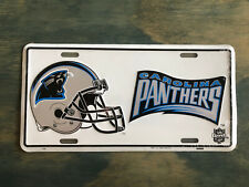 New listing CAROLINA PANTHERS NFL METAL ALUMINUM LICENSE PLATE  WITH LOGO