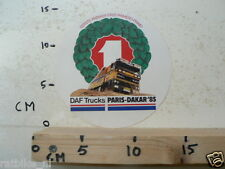 STICKER,DECAL DAF TRUCKS PARIS-DAKAR 1985 NOT 100 % OK LARGE