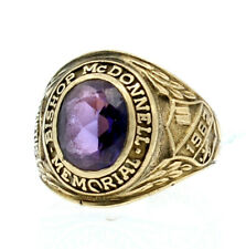 10K YELLOW GOLD BISHOP McDONNELL MEMORIAL 1962 CLASS RING SIZE 7.75 10.6 GRAMS
