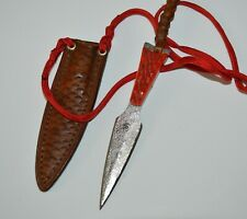 Hand Forged Neck Dagger by Carl Rechsteiner C Rex Knife Leather Sheath