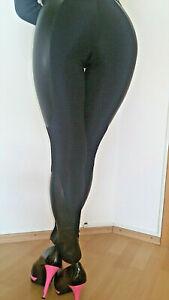 Sexy Bas Bleu Lederlook/Stoff Leggings  Gr:S