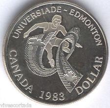 Canada 1 Dolar 1983 plata PROOF @@ Edmonton @@