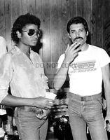 MICHAEL JACKSON AND FREDDIE MERCURY IN 1980 - 11X14 PUBLICITY PHOTO (LG173)