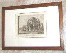 gravure XIXème architecture ancienne 3 - cadre, vitre et marquise 50 cm x 36 cm