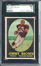 1958 Topps Football #62 Jim Jimmy Brown Rookie Card SGC 84