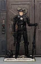 "Star Wars CUSTOM Shadow Stormtrooper 3.75"" figure with Removable Helmet VC163"