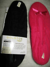 GOLD TOE 2-PACK  WOMEN'S BALLERINA SLIPPERS SIZE 9 BLACK AND HOT PINK NWT