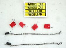 DCP HEAVY HAUL LOADS NEW 4 FLAGS, 2 CHAINS. 1 OVERSIZE LOAD DECAL