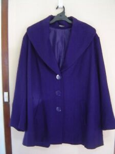 Quality Sue SMART LONG COSY LINED WOOL BLD l/sl JACKET Plus size 26+