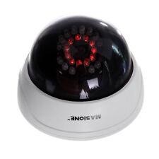 White Dome Fake Dummy Camera W/ IR Red Sensor Light Home Security  Surveillance