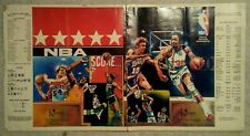 1977 NBA Vintage Basketball Kinney shoes book cover poster All Star game aba old