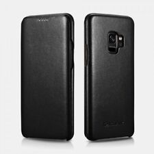 Samsung S9 Leather Case Real Curved Edge Series Luxury Black