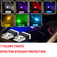 TOP Mini USB LED Car Interior Light Neon Atmosphere Ambient Lamp Light Accessory