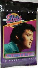 Elvis Presley Collectors Cards 12 unopened 1992 The Cards of His Life Series One