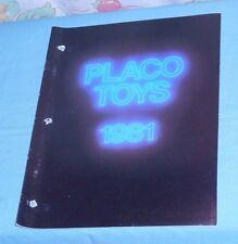original 1981 PLACO TOYS dealers' CATALOG Spider-Man CHiPs Lone Ranger