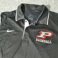 Nike Golf Polo Shirt Mens Adult Medium Size Black Short Sleeve Collared M