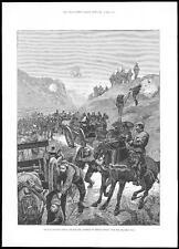 1885 BULGARIA SERBIA WAR - Retreat of Serbian Servian Troops Dragomas Pass (218)