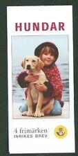 SWEDEN (H528) Scott 2408, 2001 Dogs booklet, VF