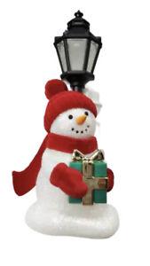 Bath and Body Works Snowman Lamp Post Lantern Nightlight Wallflower Warmer Plug