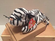 Ty Beanie Baby ~ BLIZZARD the White Tiger ~ MINT with MINT TAGS ~ RETIRED