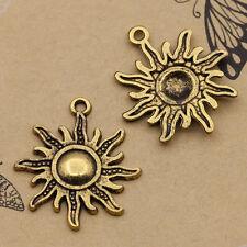 Wholesale 20pcs Tibet Silver Sun Charm Pendant beaded Jewelry 28x25mm