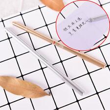 2X/Set 0.5mm Gold Silver Gel Pens Black Gel-ink Office School Writing SuppliesHI