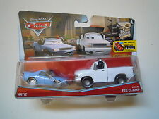 CARS Disney pixar cars ARTIE + BRIAN FEE CLAMP rarissimo 2016 scala 1/55 mattel