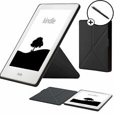Vanguardia casos ® Negro Origami Inteligente Funda Cubierta para Amazon Kindle 2016 Stylus