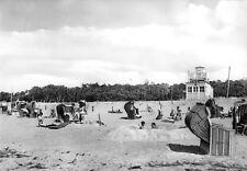 AK, Rostock Markgrafenheide, Strandpartie mit Rettungsschwimmerturm, 1965