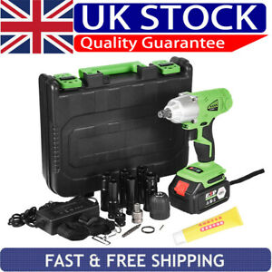21V Impact Wrench With Battery Electric Cordless Driver Car Repair Wheel Nut Gun