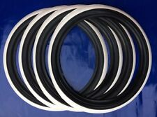 """R15"""" Tire For most all 1958-1979 VW Beetles Tire Trim Black White wall 4pcs"""