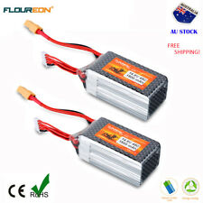 2x 4S 14.8V 45C 1500mAh LiPo Battery for RC Airplane Helicopter Car Drone Truck