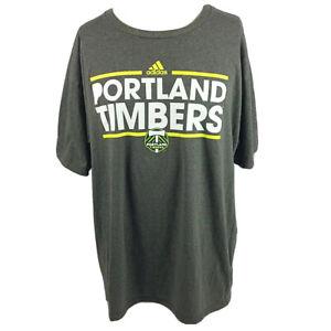 MLS Portland Timbers Soccer Adidas The Go To Tee T-Shirt 2XL XXL Short Sleeve