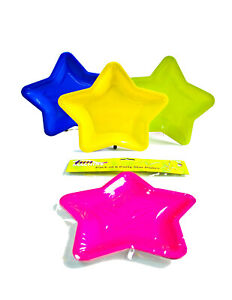 """12"""" Assorted Star Shape Plates Pack of 3 Party Decoration Birthday Home Props UK"""