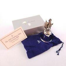 The Danbury Mint 1985 Silver Plated Christmas Santa's Helper Bell Original Box