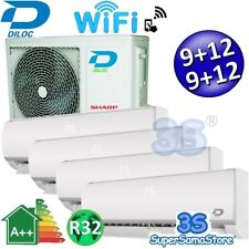 3S CLIMATISEUR SMART WIFI DILOC FROZEN R32 2,5+2,5+3,2+3,2Kw compresseur SHARP
