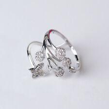 Fashion Women Chic Gold/Sivler Butterfly Tree Rhinestone Adjustable Opening Ring