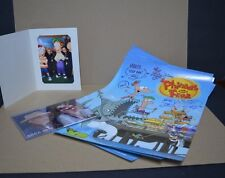 Phineas and Ferb, 4 Signed Posters and Pictures original vintage collection
