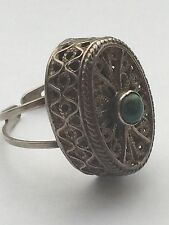 Vintage Stunning Silver ANTIQUE JUDAICA EILAT ISRAEL Adjustable Ring Size