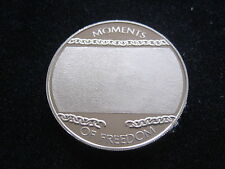 """MDS LIBERIA 10 DOLLARS 2004 """"MOMENTS OF FREEDOM"""", BLANK VERSION  #18"""