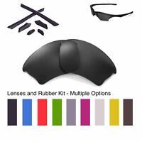 Walleva Lenses and Rubber Kit for Oakley Half Jacket XLJ- Multiple Options