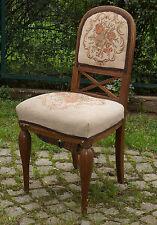 alter gepolsterter Stuhl m. gedrehten Beinen Jugendstil / Art Deco um 1910-1925