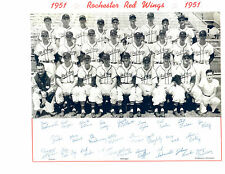 1951 ROCHESTER RED WINGS TEAM 8X10 PHOTO  BASEBALL BILKO NEW YORK