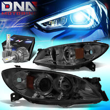For 2004 2009 Mazda 3 Sedan 4dr Projector Headlights Withled Kit Slim Style Titned Fits Mazda 3
