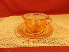 Federal Depression Glass Normandie Pink Cup & Saucer Set