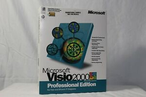 """Microsoft Office Visio 2000 Professional """"Promotional Sample"""" ☆Complete☆"""