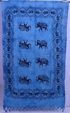 Elephant Beach Throw Yoga Mat Indian Sarong cotton Wall Hanging Mandala Tapestry